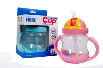 Baby Care Training With Straw 240 ML 1 cif001_pink